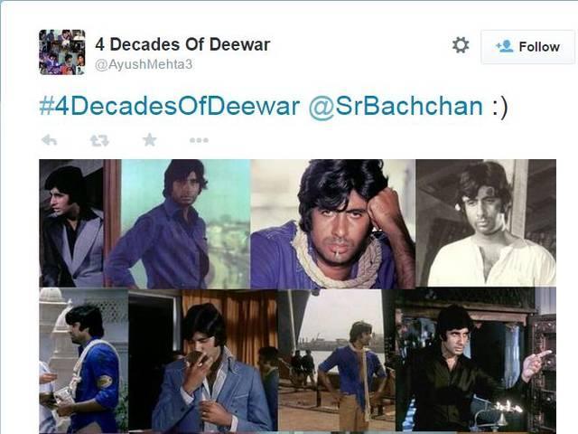 amitabh bachchan's classic movie deewar completes 40 years
