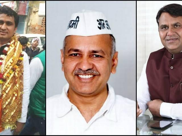 top ten seats in delhi assembly polls