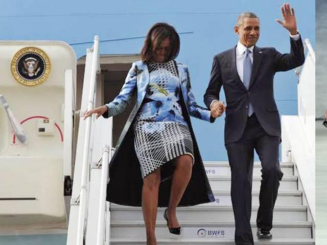 Michelle Obama wears Indian designer's outfit