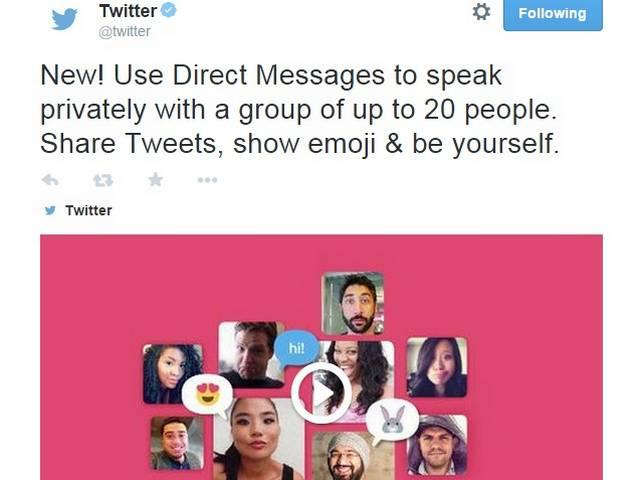 Twitter launches group messages, 30-second video sharing
