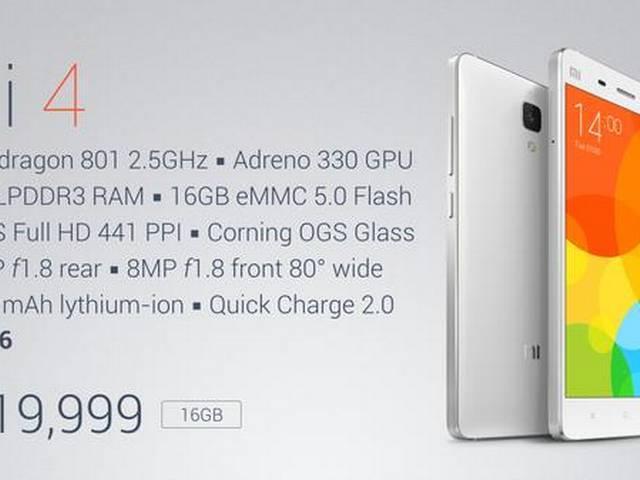 Xiaomi launches Mi 4 in India