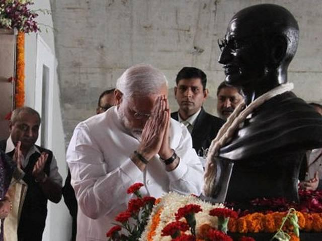 PM Narendra Modi pays tribute to Mahatma Gandhi