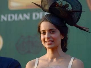 Bollywood actor Kangana Ranaut during the McDowell Signature Indian Derby 2015.