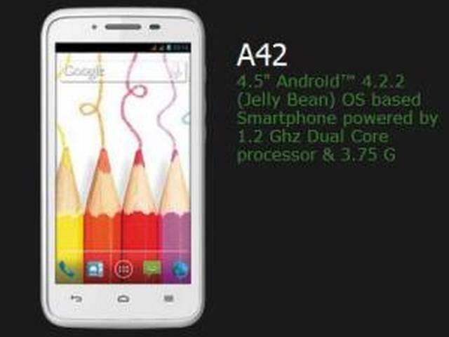 वीडियोकान ने पेश किया नया स्मार्टफोन ए42