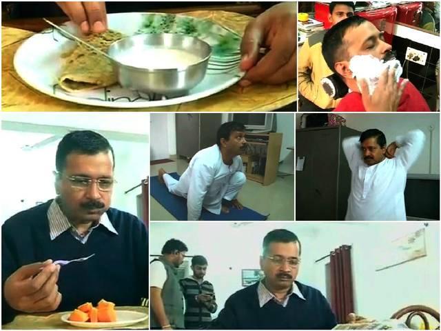 todays routine of arvind kejriwal