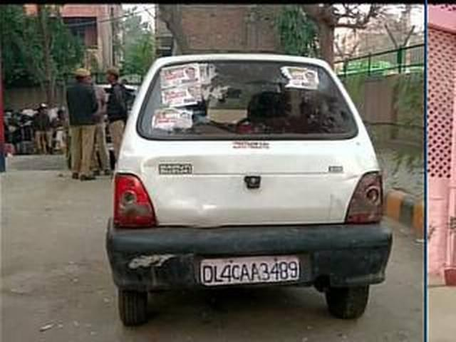 BJP candidate from Mangolpuri Surjeet Kumar's car was seized last night,was allegedly filled with liquor