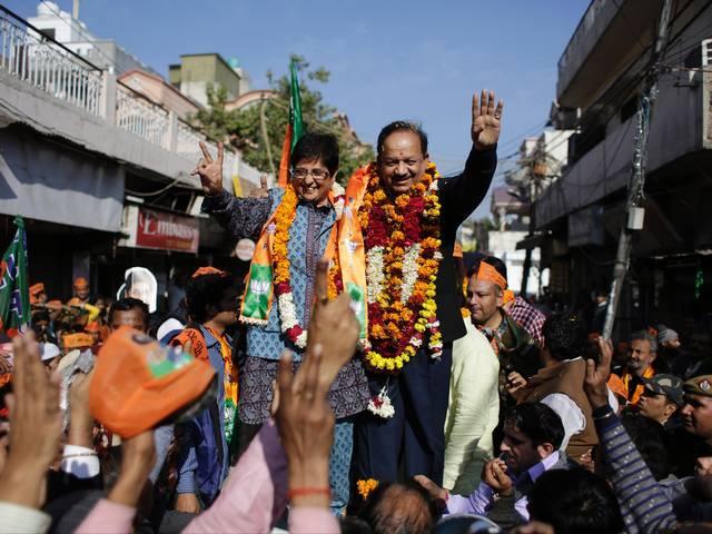 BJP_AAP_ELECTION_KIRAN BEDI_Arvind Kejriwal_