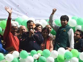 aam aadmi party celebration