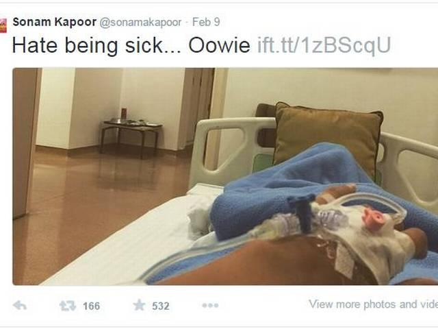 prem ratan dhan payo: sonam kapoor admitted in hospital