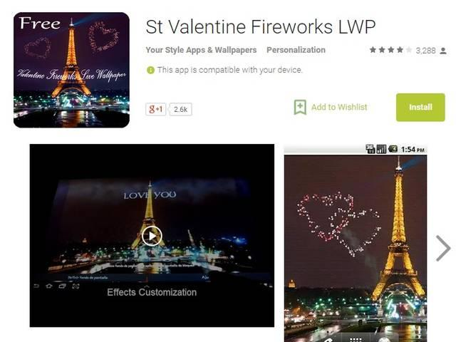 make your valentine day special by smartphone application
