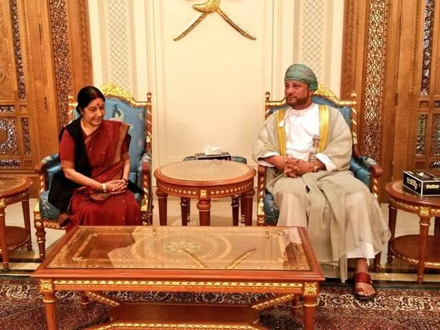 foreign minister Sushma Swaraj to raise the question of 11 indians with Oman
