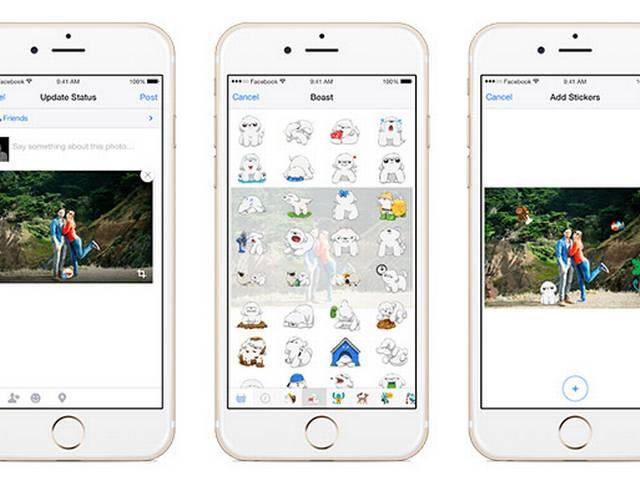 Facebook for mobile lets you add stickers to photos