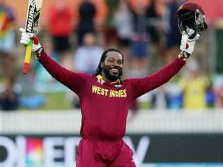 Gayle hits first double ton in World Cup as WI post 372/2