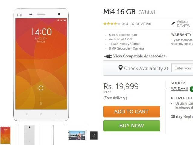 Xiaomi to sell Mi 4 16GB without flash sales