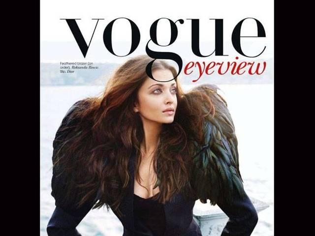 Aishwarya on the cover page of vogue magzine