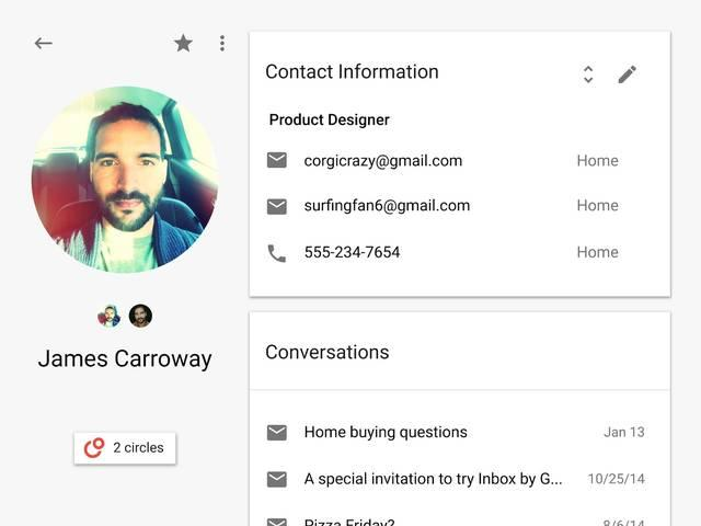 The new Google Contacts: Bringing everyone together