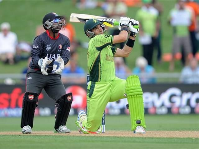 World Cup 2015_Pakistan_UAE_Misbah ul Haq_Ahmed Shehzad_