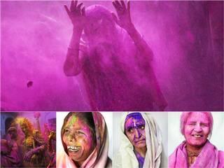Meera Sahabhagini Widow Ashram in Vrindavan_Holi_celebration
