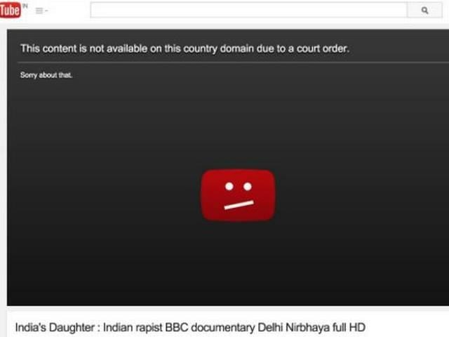 Nirbhaya Documentary_removed_on_youtube