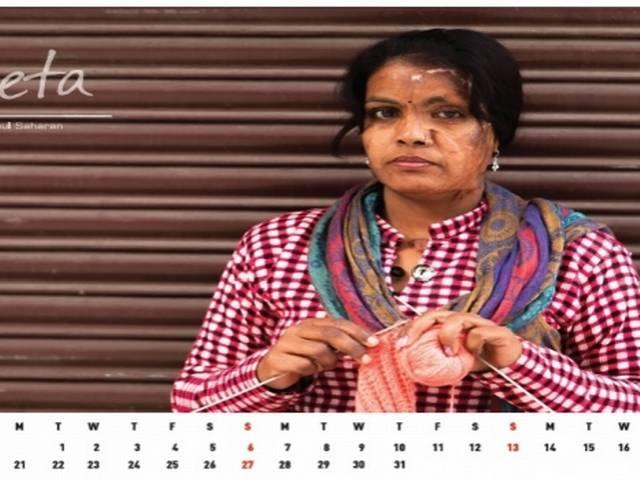 Acid attack survivors feature on calendar