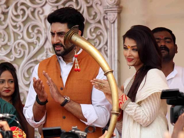 Abhishek and Aishwarya celebrate Gudi Padwa