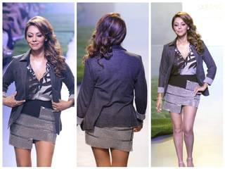 Bollywood actor Shahrukh Khan's wife Gauri Khan during her show at the Lakme Fashion Week Summer Resort 2015