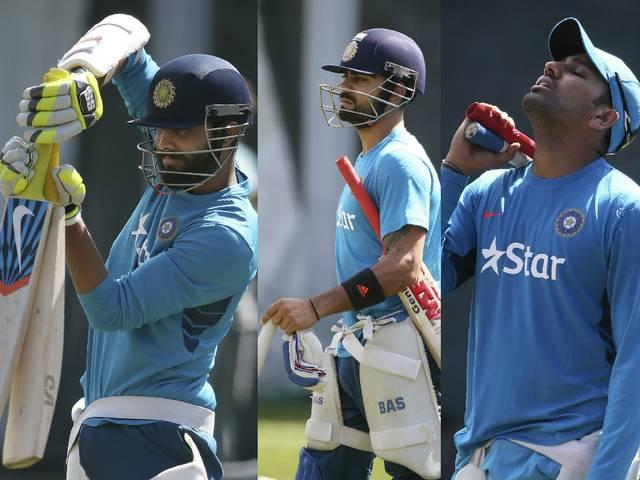 Cricket_World Cup 2015_India_practice