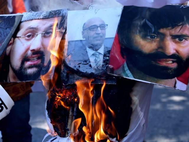 Shiv Sena protest against Pakistan invite to separatists