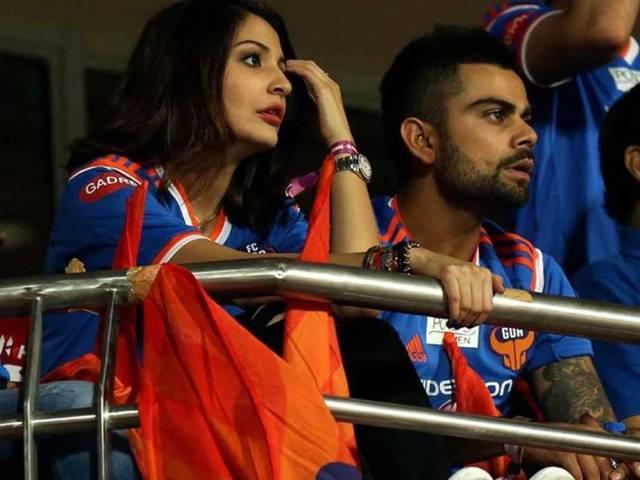 World Cup 2015_Anushka Sharma_Virat Kohli_Semi-Final_