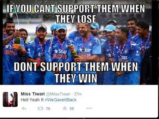 Twitteraties trolled team india