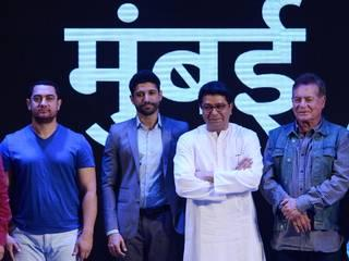 Maharashtra Navnirman Sena chief Raj Thackeray speaks during the meeting on controversial development plan (DP) for the Mumbai city by Maharashtra Navnirman Sena (MNS) Party in Mumbai, India on March 28, 2015. The cine stars called for a dialogue between citizens and government to plan the vision for the city.