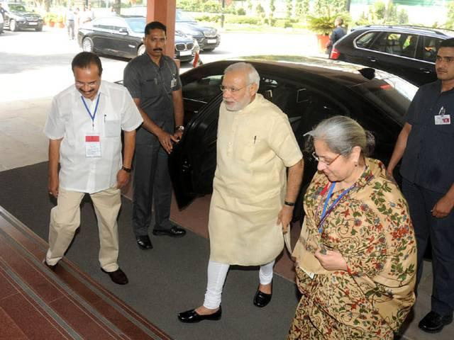 PM Narendra Modi Innaugrates Joint Congrence of Chief Ministers and Chief Justices of High Court.