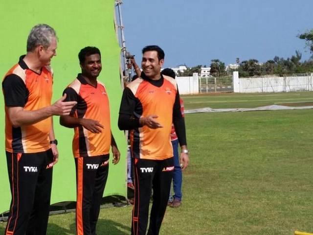 IPL 8_Sunrisers Hyderabad_VVS Laxman_Tom Moody_Shikhar Dhawan_