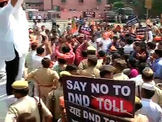 bjp protest on dnd