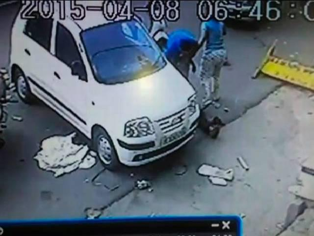 CCTV video and hit and run case