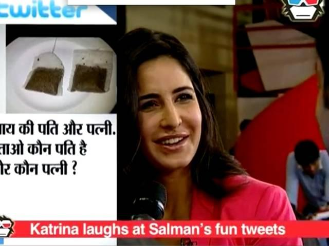 EXCLUSIVE VIDEO! KATRINA KAIF CAN'T STOP LAUGHING OVER SALMAN KHAN'S FUNNY TWEETS