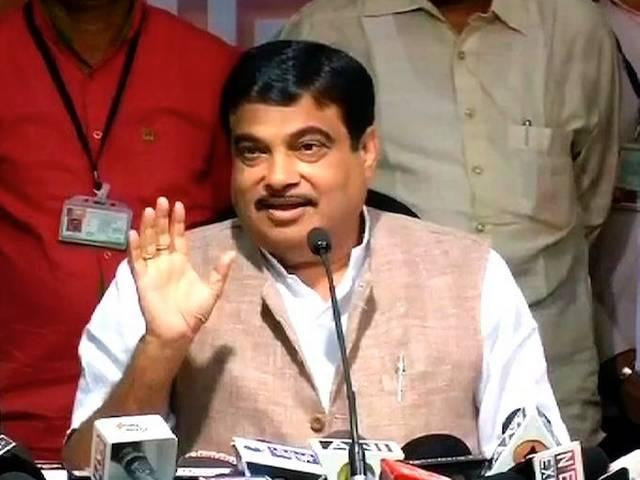 while in power, opposition parties sold precious land to private builders says gadkari