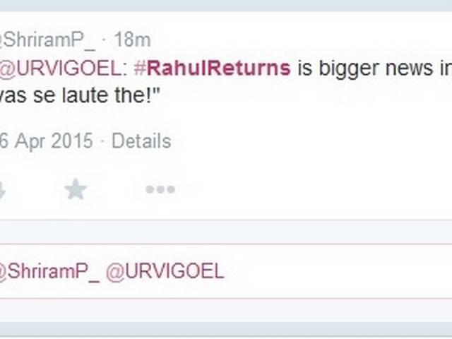 #RahulReturns and social media troll