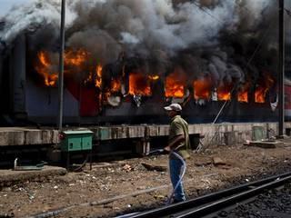 6 coaches of 2 Rajdhani trains gutted in Delhi rail yard fire