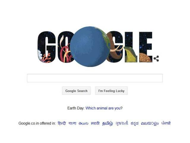 Google doodle on earth day