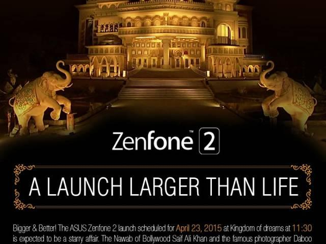 asus zenfone 2 to be launched today