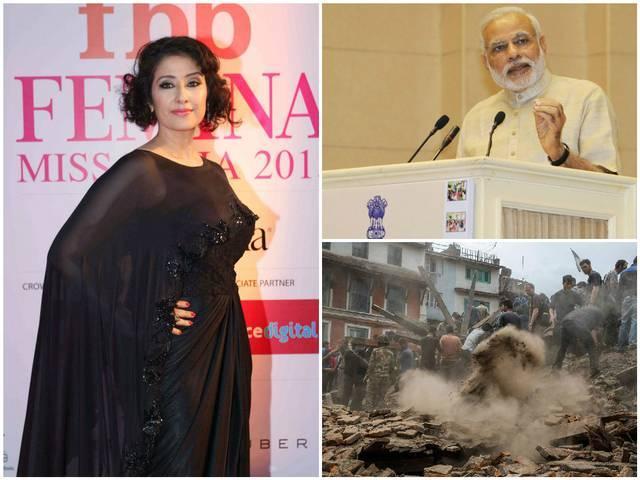 Manisha Koirala thanks PM modi