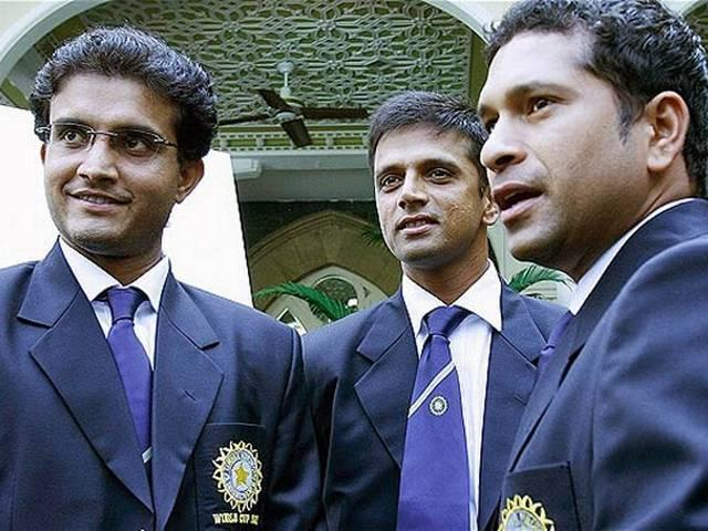 Sachin Tendulkar_Rahul Dravid-Sourav Ganguly_Team India_BCCI_