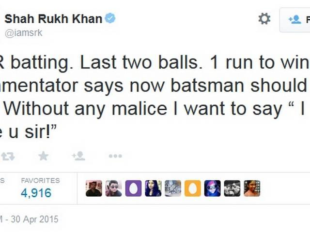 "IPL 8: Why did Shahrukh Khan say to the commentator,""'I hate you Sir"" ?"