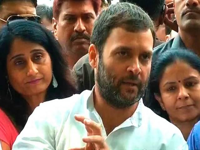 Rahul Attacks on government over Real Estate Bill