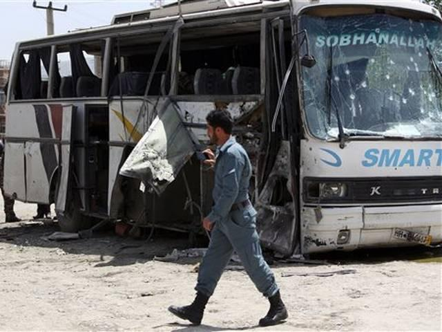 Suicide bomber attacks government bus