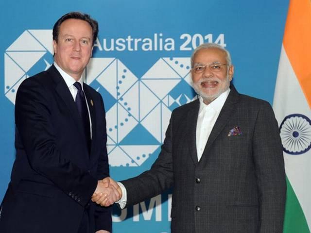 Narendra Modi_David Cameroon_Britain_
