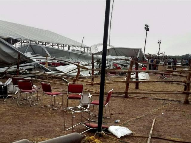 Pandal for Modi's event collapses in Raipur, 25 injured