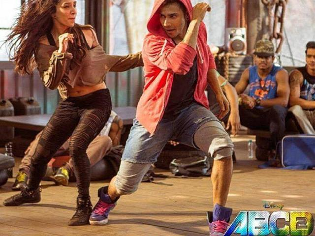Mumbai: Actor Varun Dhawan during the rap song recording of film ABCD 2