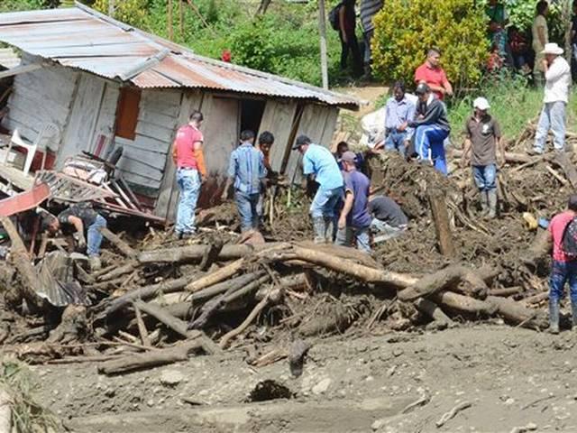 Flood, mudslide sweep away homes in Colombia, killing 47